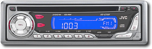 Jvc Kd G200 Am Fm Stereo Cd Player With 200w Max Detachable